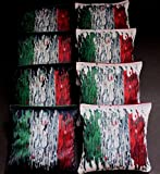 ITALIAN FLAG of ITALY red and green 8 ACA Regulation Cornhole Bean Bags B254