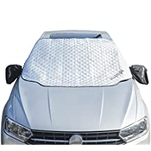 "OldPenpal Thickened Windshield Snow Cover & Sun Shade Protector , with Mirror Protective Covers - Keeps Ice , Frost & Snow Off Fits Most of Car & SUVs (59.8""x 49.61"")"