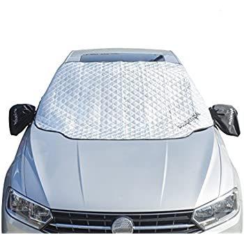 """OldPenpal Thickened Windshield Snow Cover & Sun Shade Protector , with Mirror Protective Covers - Keeps Ice , Frost & Snow Off Fits Most of Car & SUVs (59.8""""x 49.61"""")"""