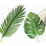4-Piece Artificial Palm Leaf/ Fake Green Leaves/ Palm Leaves/Tropical Imitation Plant Leaves - Party Decorations & Room Decor