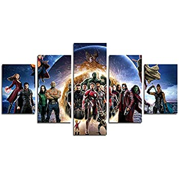hcozy Print Painting Canvas, 5 Pieces The Avengers Infinite War Canvas Wall Art Painting for Home Living Room Office Mordern Decoration Gift(Unframed)...