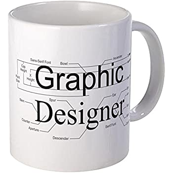 Charming CafePress   Graphic Designer Mug   Unique Coffee Mug, Coffee Cup