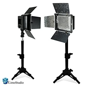 LimoStudio 2PC LED 160 Photographic Lighting Kit Photo Studio Barndoor Light Continuous Video Light  sc 1 st  Amazon.com & Amazon.com : LimoStudio 2PC LED 160 Photographic Lighting Kit ... azcodes.com