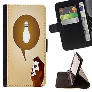 King Case - FOR Samsung Galaxy S3 III I9300 - Sharp tools make good work - Prima caja de la PU billetera de cuero con ranuras para tarjetas, efectivo Compartimiento desmontable y correa para la mu?eca