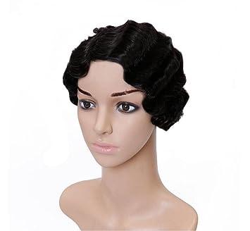 Fa Negro Pelucas Curly - Natural y Moda Pelucas Cortas para Las Mujeres, Resistente al