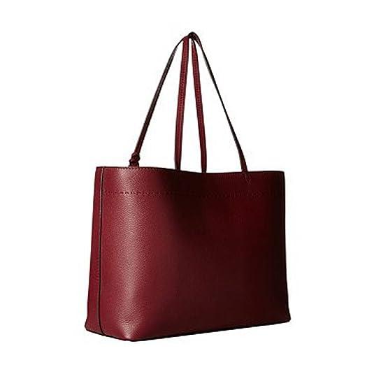 ce7c6a38ac3a Amazon.com  Tory Burch McGraw Ladies Medium Leather Tote Handbag 42200641   Shoes