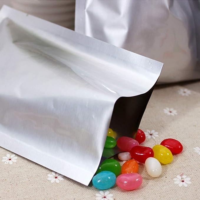 Amazon.com: 100 bolsas de embalaje de aluminio al vacío ...