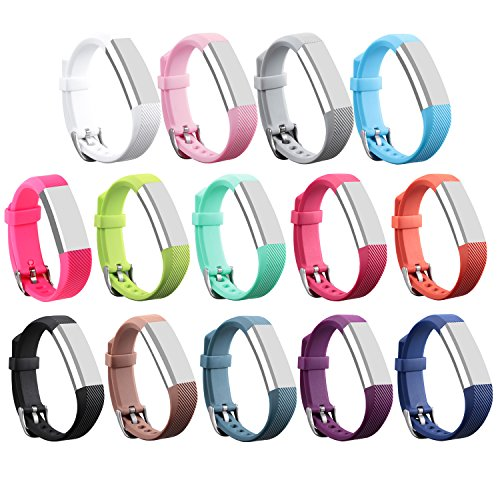 For Fitbit Alta HR and Alta Bands, I-SMILE Colorful Adjustable Replacement Wristband for Fitbit Alta HR/ Fitbit Alta Bands(No tracker, Replacement Only (Pack of - Mens United Nude