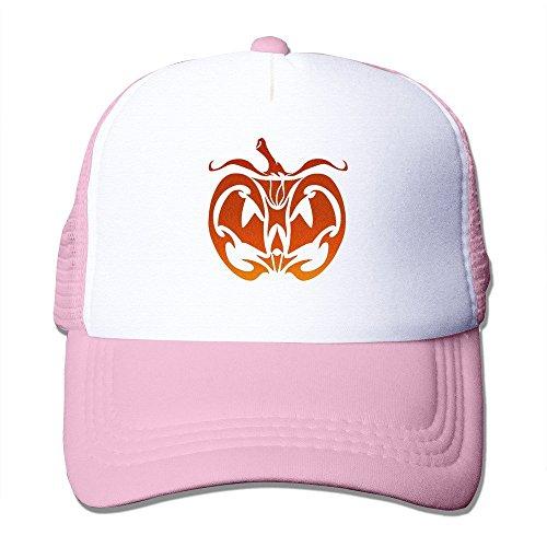 Pumpkin Face Unisex Adult Mesh Hat Trucker