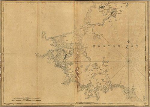 Map: 1776 A chart of Boston Bay and vicinity|Boston Bay|Boston Bay Mass|Massachusetts|Nautical - Shopping Outlets Arizona
