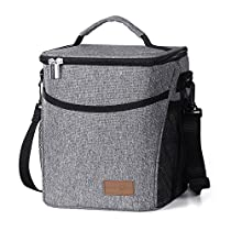 Lifewit Insulated Lunch Box Lunch Bag for Adults Men Women, 9L (12-Can) Soft Cooler Bag, Water-Resistant Leakproof Thermal Bento Bag for Work/School/Picnic