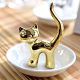 PUDDING CABIN Cat Jewelry Tray Ring Holder Dish Rings Bracelets Earrings Trays Holder