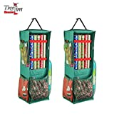 Tiny Tim Totes 83-DT5576 5713 Four Sided | Premium Hanging Gift Wrap and Bag Organizer | 2-Pack