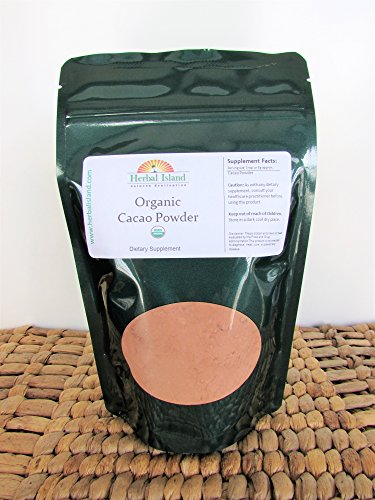 Cacao Bean Powder 1 LB or 16 OZ Pure Organic Certified Cocoa with Free Shipping -  Herbal Island