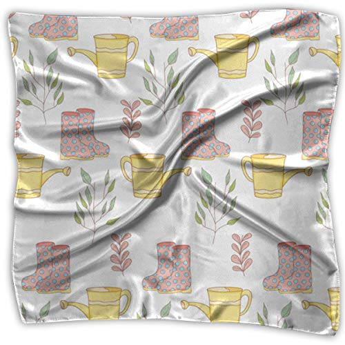 Women's Square Handkerchief Gardener Shower Sprinkler Boots Pattern Polyester Neck Head Scarf