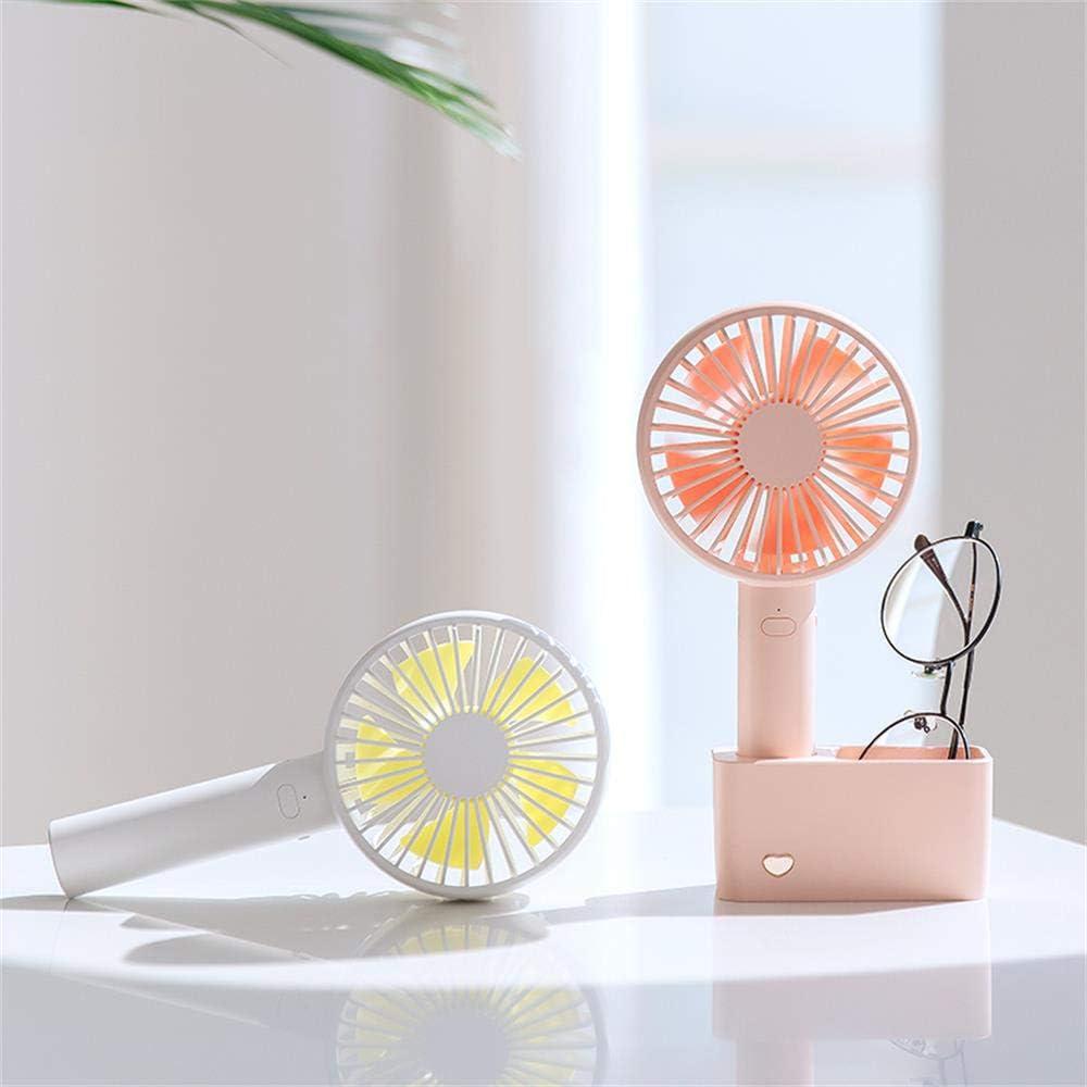 White Handheld Mini Portable Handheld Fan Desktop Charging Small Fan USB Fan