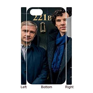 3D iPhone 4/4s Case, Funny Cute BBC Sherlock 221B Case For iPhone 4/4s {White}