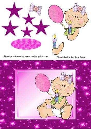 Primer cumpleaños niña color rosa y morado por Amy Perry ...