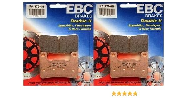 EBC Sintered Double H Front Brake Pads (2 Sets) 2008-2013 Kawasaki ZX1000 Ninja ZX-10R / FA379HH