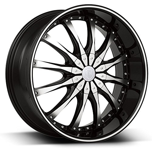 "20"" Inch Borghini B8 Black Machine Wheels Rims 