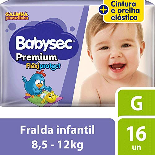 Fralda Babysec Galinha Pintadinha Premium G 16 Unids, Babysec, G