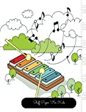 Staff Paper For Kids: Xylophone Large, Empty Staff, Manuscript Sheets Notation Paper For Composing For Musicians, Students, Songwriting. Book Notebook Journal 100 Pages 8.5x11