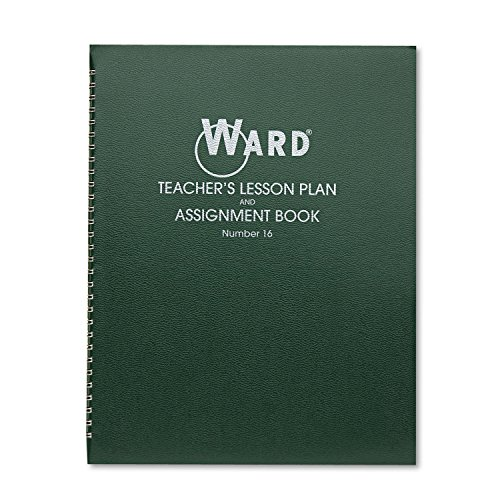 Ward 16 Lesson Plan Book, Wirebound, 6 Class Periods/Day, 11 x 8-1/2, 100 Pages, Green