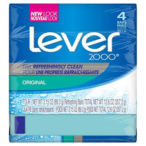 (Lever 2000 Bar Soap, Original, 3.15 oz, 4 Bar)