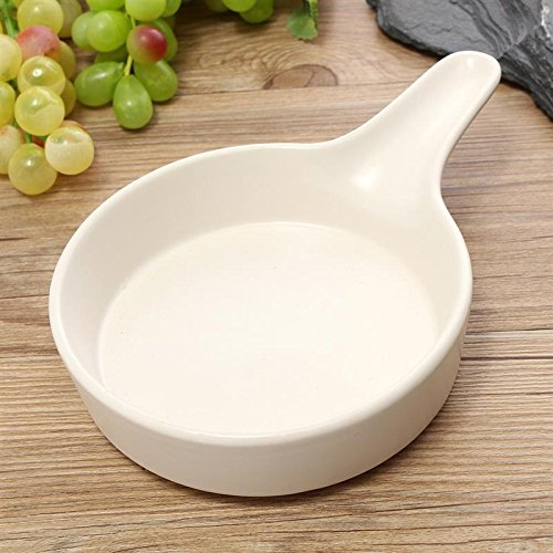 Ceramics Cake Pan Single Handle Non-stick Cake Pizza Bowl Cakes Muffin Loaf Pan Roaster Pastry Tools Kitchen Accessories White (Coated Butterfly Knife)
