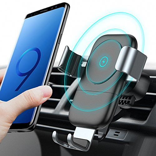 Auto Fast (TORRAS Wireless Car Charger Mount, Auto-clamping Qi Fast Charging Wireless Charger Car Air Vent Cell Phone Holder Cradle for Samsung Galaxy S9/S9+ Plus/S8/S8+, iPhone X/8/8 Plus and More)