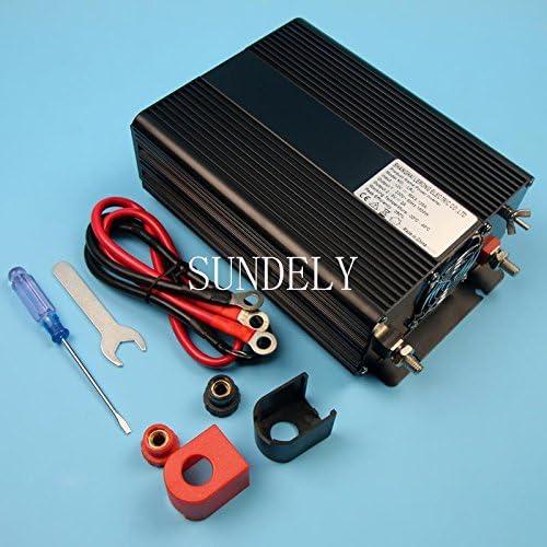SUNDELY Modified Sine Wave 1500W Converter Inverter Transformer 12V 220-240V for Car Boat Home Main Sockets USB Socket