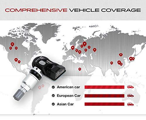Autel 4 pezzi TPMS Sistema di controllo della pressione dei pneumatici Sensore di pressione dei pneumatici Sensore TPMS universale programmabile 100/% ID Clonabile