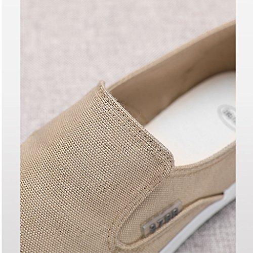 canvas scarpe estate SHI XIANG uomo panno giovani maschile SHOP scarpe Cachi deodorante Vecchie Pechino traspirante shoes tela di versione da di casual LI scarpe coreana pigri FtgPxwndqg