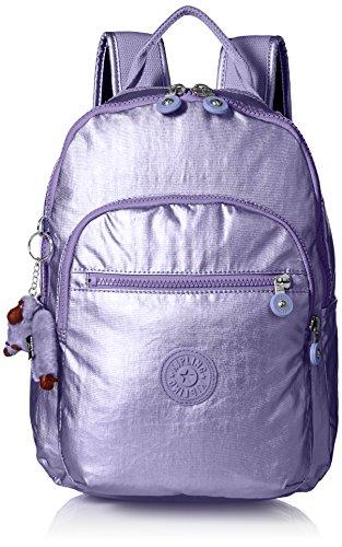 Kipling Seoul GO S Metallic Mist Purple Backpack, Mtlmistprl