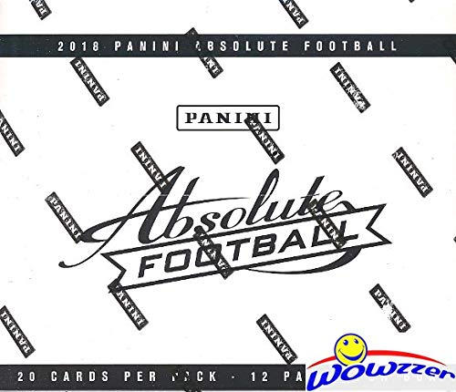 2018 Panini Absolute NFL Football MASSIVE Factory Sealed JUMBO FAT PACK Box with 240 Cards! Look for Rookies & Autographs's of Baker Mayfield, Sam Darnold, Saquon Barkley & More! ()