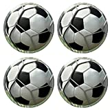 Custom Coaster Set of 4 ,MSD Unique Printed Coaster Cup Mat Design for ball soccer sport football play game black leather white leisure equipment net round team single