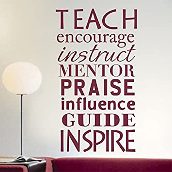 Teaching Words Wall Decal Vinyl Wall Quote Gift For Teacher Classroom Decor  Back To School Decoration