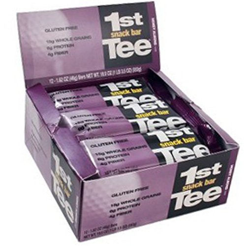 SCNS Sports Foods 1st Tee Honey Almond Pre-Round Golf Nutrition Bar, 1.62-Ounce Bars (Pack of 12)