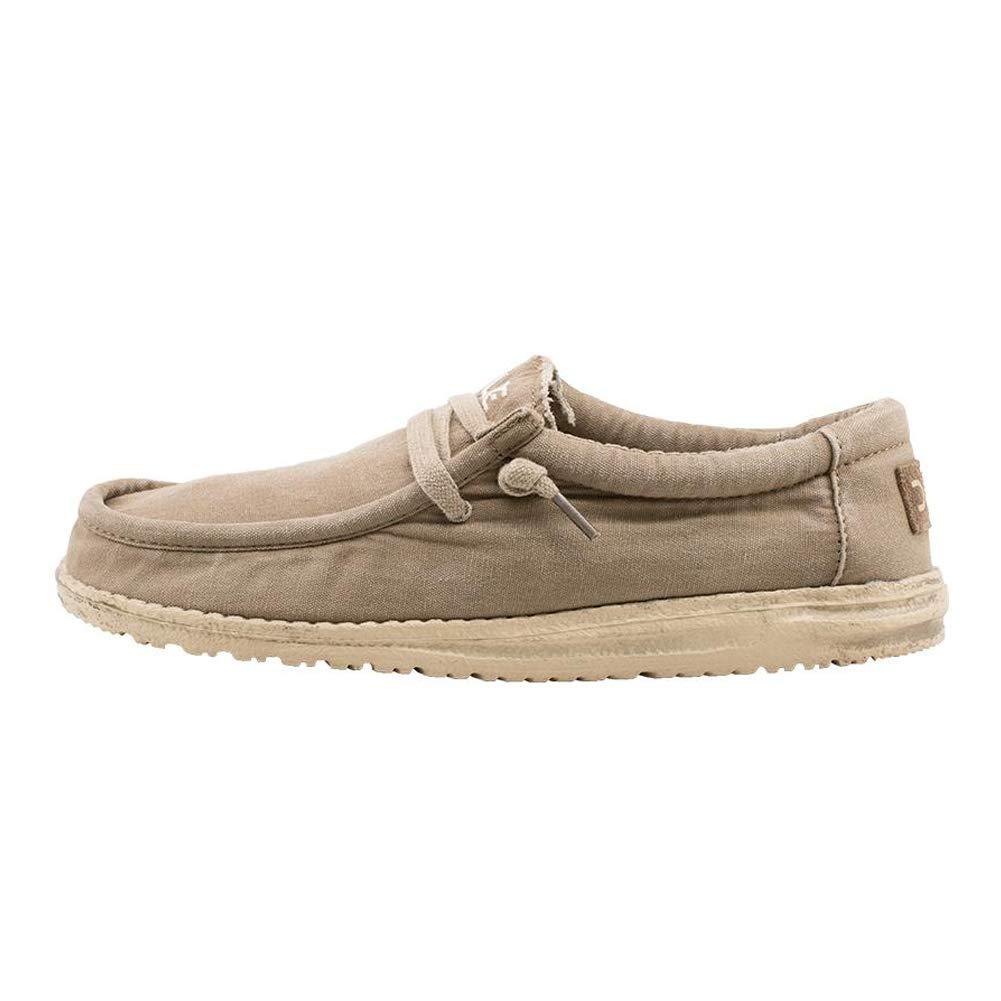 Dude Shoes Wally Hombres Lavado Castaño