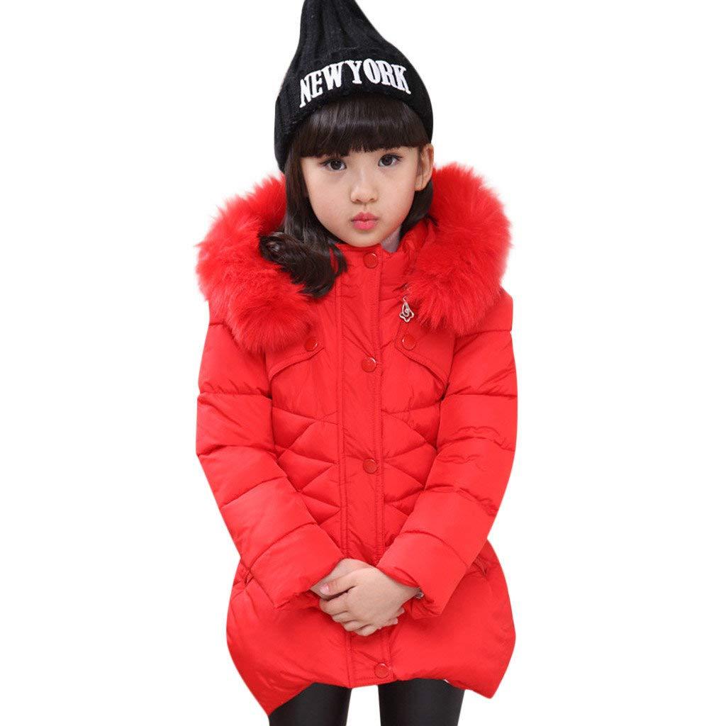 BaZhaHei Bambini, Ragazza Bambino Giacca con Cappuccio Tasca con Zip Tinta Unita Inverno Caldo Casual Cappotto