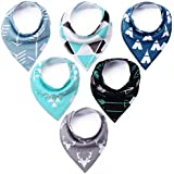 Baby Bandana Drool Bibs - Cute Kids Design for Boys,...