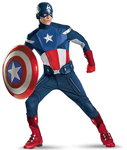 Disguise Mens Plus Size Avengers Captain America Adult Costume