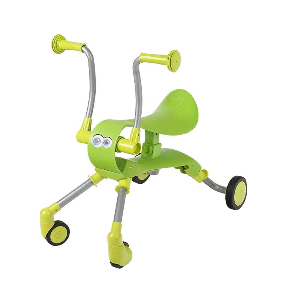 子供の歩行者折りたたみ子供のスクーター四輪バランス車のスライド2歳以上の子供のための漫画の子供のスクーター ( B07PTQBZ3K Color ( : Green Green ) B07PTQBZ3K, 格安人気:f925ef18 --- gamenavi.club
