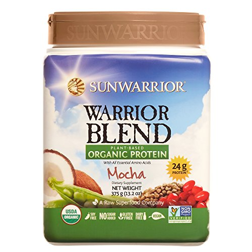 Sunwarrior - Warrior Blend, Raw, Plant Based, Organic Protein, Mocha, 15 servings
