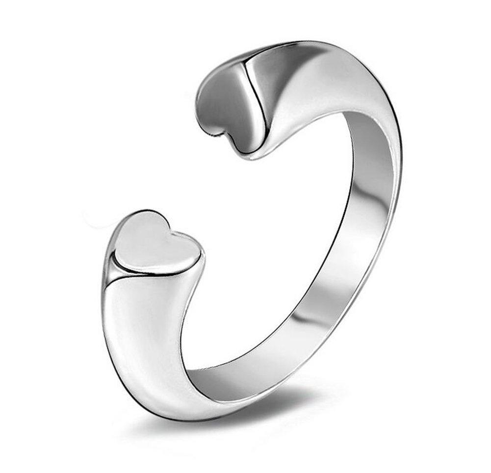 Treestar 1PCS elegant Love Open Lady anelli argento lucido Art Female wedding Jewelry Girl decora Gift anello