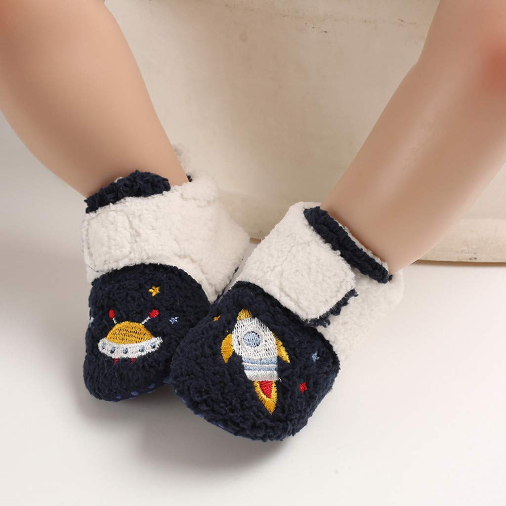 LNGRY01 Baby Boys Girls Winter Warm Snow Boots Soft Sole Newborn Infant Prewalker Crib Shoes