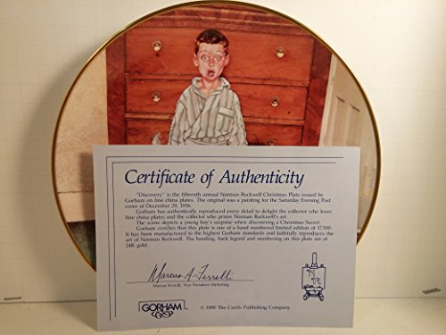 """Norman Rockwell """"Discovery"""" Gorham China Collectibles"""
