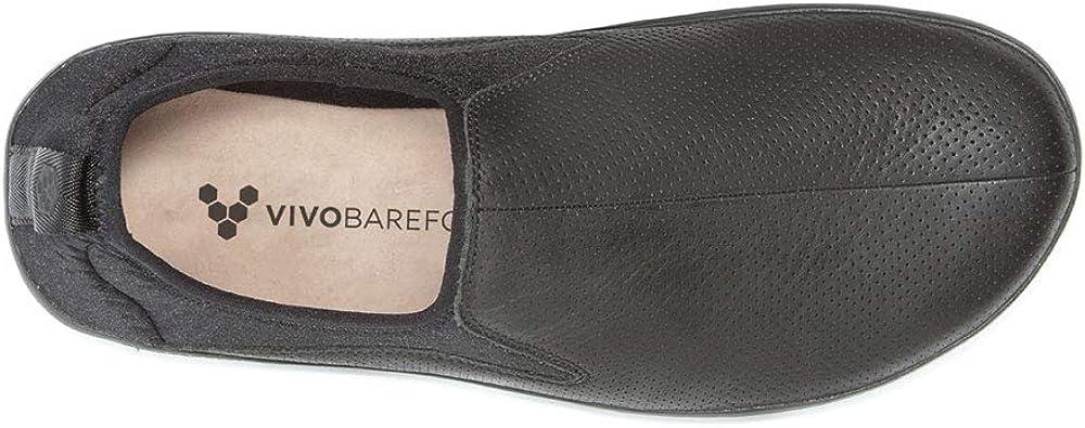 Chaussures Vivobarefoot Slyde Cuir Noir Homme