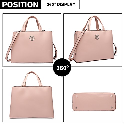 Lulu Multi Crossbody Magnetic Miss Shoulder Closure compartment Pink With Handbags Top Quality Handle Bag Zipper Women 1wndqnPC