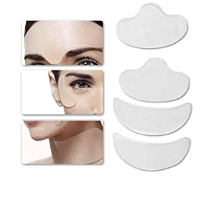 Reusable Silicone Anti Wrinkle Patches - Face Lifting Sticker Mask,Anti-Wrinkle Moisturising Patchs,4Pads/Piece - Skin Tightening and Lifting